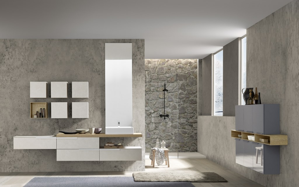 Linee pulite per un bagno moderno e funzionale.