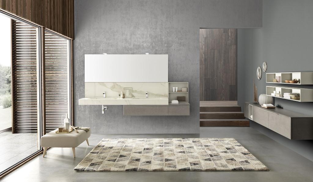 Elementi sospesi per una facilità di pulizia, ed un design moderno.