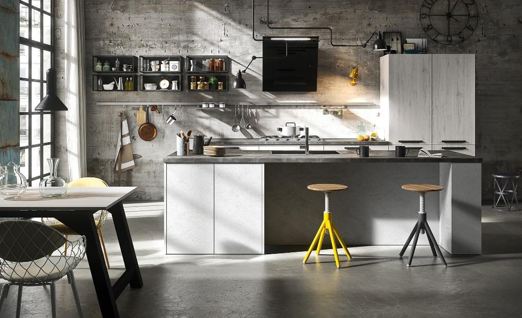 Cucina modello People ante laminato effetto legno