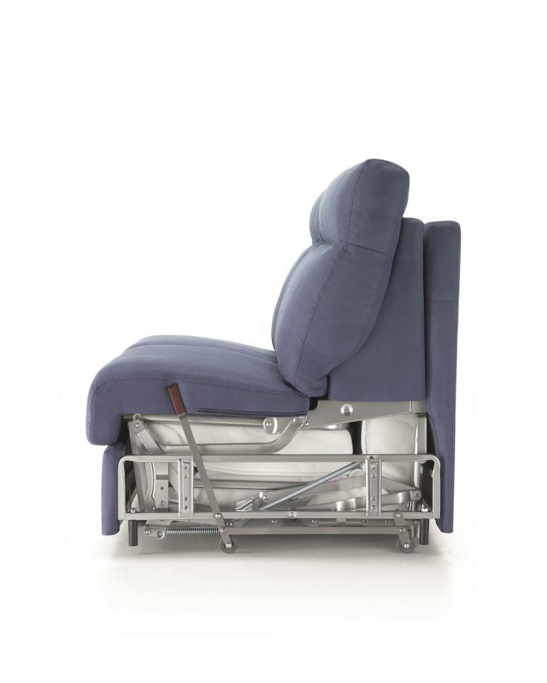 Struttura interna divano letto Rosini Divani con leva Roller System